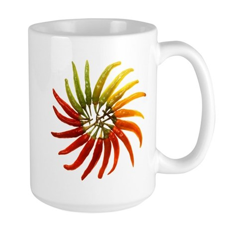 Chili Pepper Wheel Large Mug