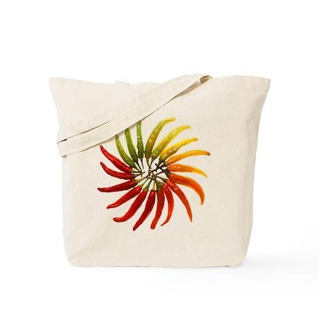 Chili Pepper Wheel Tote Bag