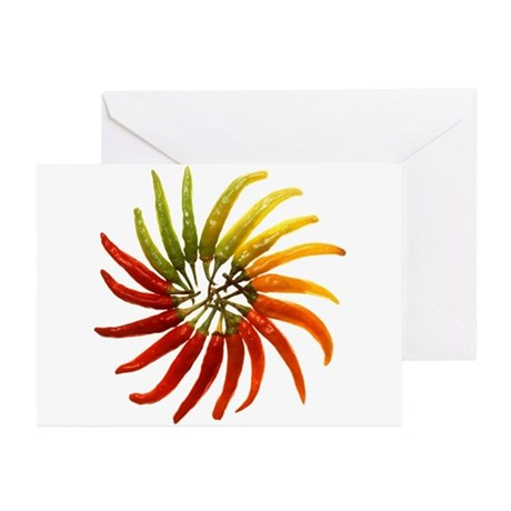 Chili Pepper Wheel Greeting Cards (Pk of 20)
