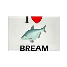 I Love Bream Rectangle Magnet