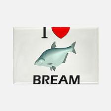 I Love Bream Rectangle Magnet