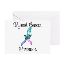 Thyroid Cancer Survivor Greeting Cards (Pk of 10)