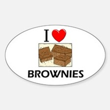 I Love Brownies Oval Decal