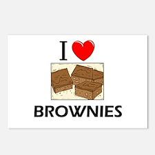 I Love Brownies Postcards (Package of 8)