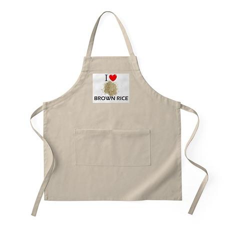 I Love Brown Rice BBQ Apron