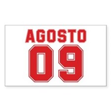 AGOSTO 09 Rectangle Decal