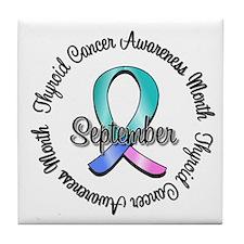 Thyroid Cancer Month Tile Coaster