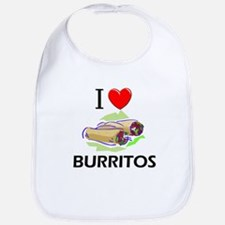 I Love Burritos Bib