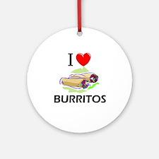 I Love Burritos Ornament (Round)