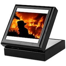 FireFighter Tile Keepsake Box