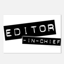 """Editor-in-Chief"" Postcards (Package of 8)"