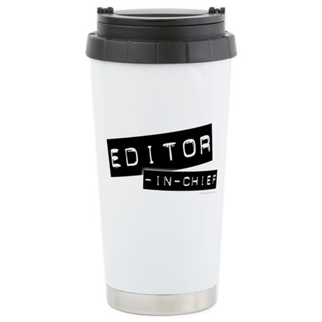 """""""Editor-in-Chief"""" Stainless Steel Travel Mug"""