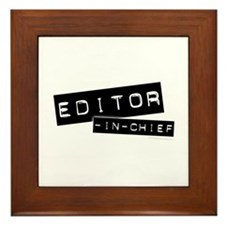 """""""Editor-in-Chief"""" Framed Tile"""