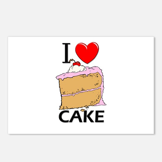 I Love Cake Postcards (Package of 8)