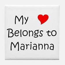 Funny Marianna Tile Coaster