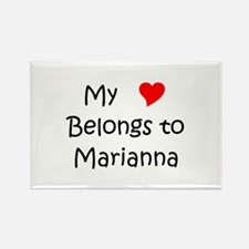 Cool Marianna Rectangle Magnet