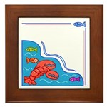 Fish and Crabs Framed Tile