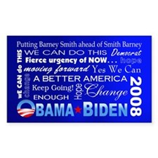 Obama Collage Rectangle Decal