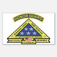 Honor Guard Rectangle Decal