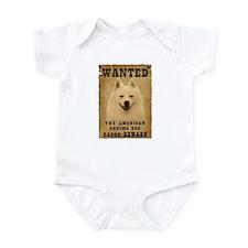 """Wanted"" American Eskimo Dog Infant Bodysuit"