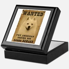 """Wanted"" American Eskimo Dog Keepsake Box"