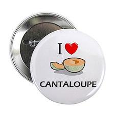 """I Love Cantaloupe 2.25"""" Button"""