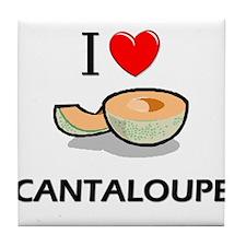 I Love Cantaloupe Tile Coaster
