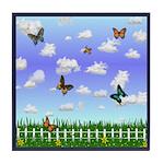 Field of Butterflies Tile Coaster