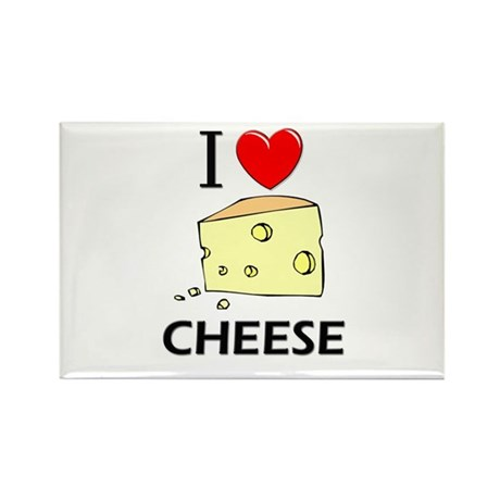 I Love Cheese Rectangle Magnet (10 pack)