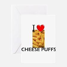 I Love Cheese Puffs Greeting Card