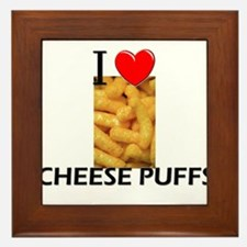 I Love Cheese Puffs Framed Tile