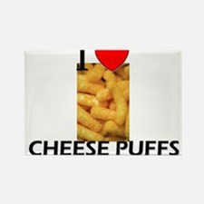 I Love Cheese Puffs Rectangle Magnet