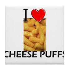 I Love Cheese Puffs Tile Coaster