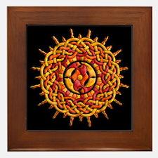 Celtic Knotwork Sun Framed Tile