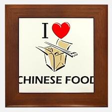 I Love Chinese Food Framed Tile