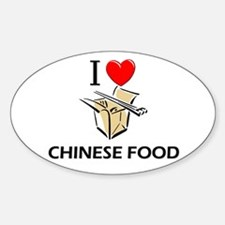 I Love Chinese Food Oval Decal