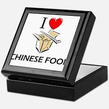 I Love Chinese Food Keepsake Box