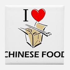I Love Chinese Food Tile Coaster