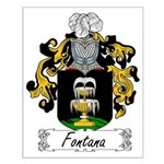 Fontana Family Crest Small Poster