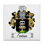 Fontana Family Crest Tile Coaster