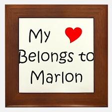 Funny Marlon Framed Tile