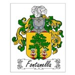 Fontanella Family Crest Small Poster