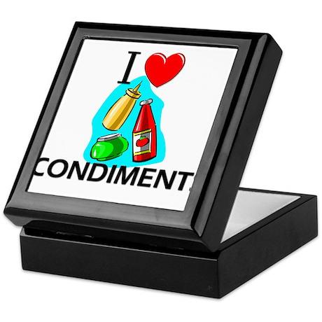 I Love Condiments Keepsake Box