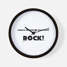 Human Resources Assistants ROCK Wall Clock