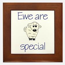 Ewe are special Framed Tile