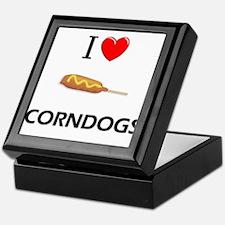 I Love Corndogs Keepsake Box
