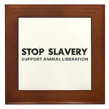 Stop Slavery Framed Tile