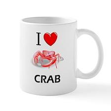 I Love Crab Small Mug
