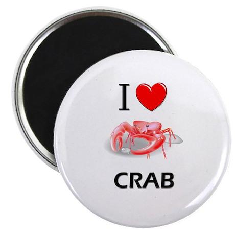 """I Love Crab 2.25"""" Magnet (10 pack)"""