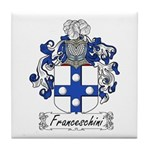 Franceschini Family Crest Tile Coaster